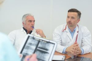 Doctor and patient discussing drug and alcohol treatment in Maryland